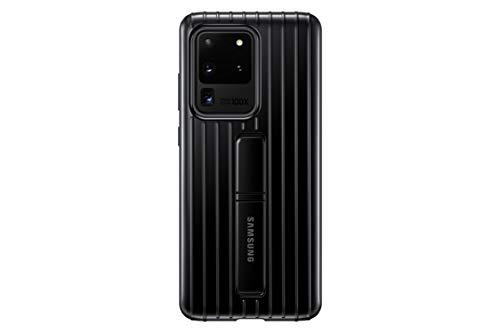 Samsung Protective Standing Smartphone Cover EF-RG988 für Galaxy S20 Ultra Handy-Hülle, Schutz, ausklappbarer Standfuß, griffige Oberfläche, schwarz