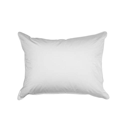 Ogallala Firm Standard Bed Pillow - 700 Fill-Power Hand-Crafted Luxury Goose Down & Milkweed Hypoallergenic White Pillows for Best Sleep, Breathable, Eco-Friendly & Saving Butterflies (Sequoia)