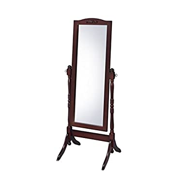 Proman Products CV17003 Victoria Cheval Mirror, Walnut