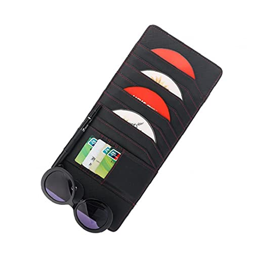 GGOOD Auto Sonnenblende Einfaches er CD-Halter Auto-Innenraum-Organizer Tasche mit Stifthaltern Autozubehör Schwarz