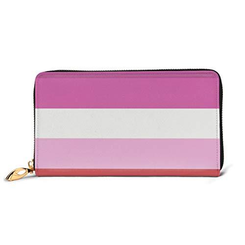 Lesbian Pride Flag Fashion Women Leather Wallets Zipper Clutch Purse