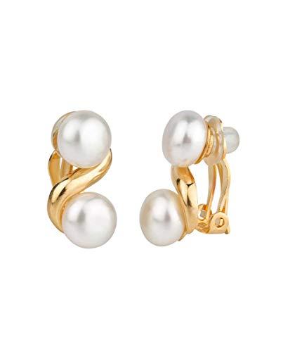 VIDAL & VIDAL Pendientes con Perlas cultivadas y cierre clip