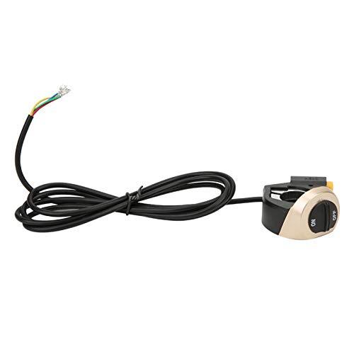 DAUERHAFT Interruptor de Cuerno de lámpara de Scooter eléctrico fácil de Instalar, Adecuado para Bicicleta eléctrica de Scooter eléctrico