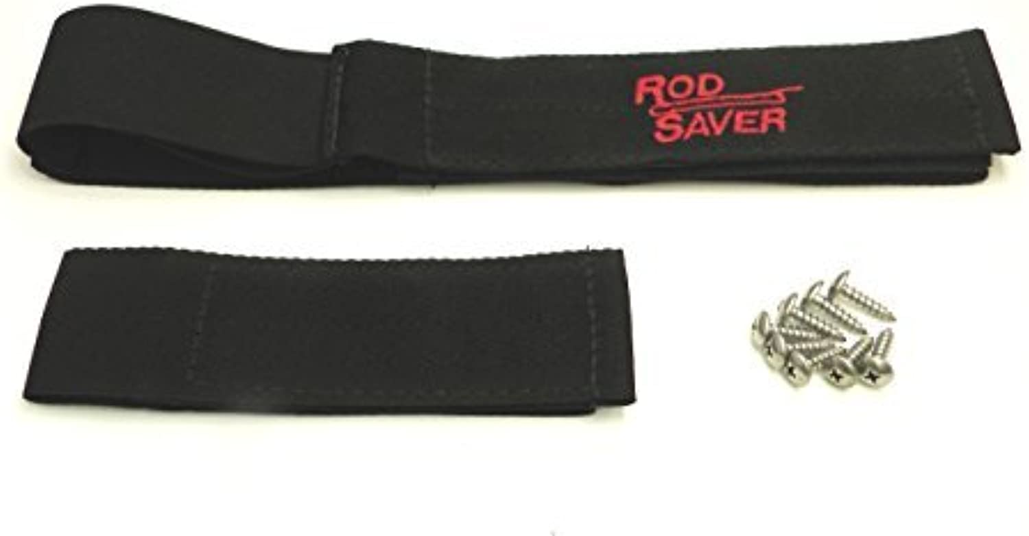 Rod Saver 12 6PM Pro Model Marine Stretch Rod Saver Set with 12Inch and 6Inch Straps, 2Pieces, Black Finish by Rod Saver