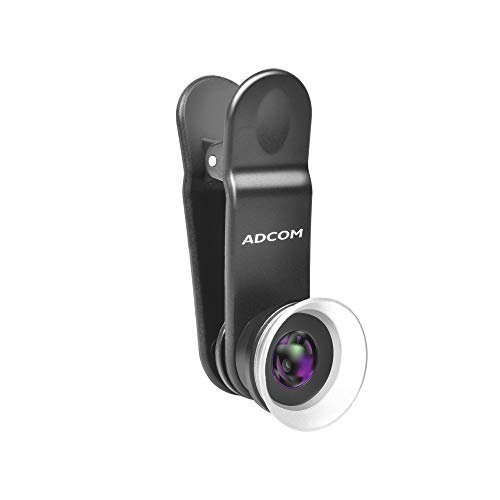 Adcom 12x/24x Macro Mobile Phone Camera Lens with Lens Hood – Compatible with All iPhone & Android Smartphones (Black)