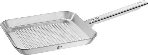 Zwilling Plus grillpan, geschikt voor inductie, roestvrij staal, zilver, 24 x 24 cm