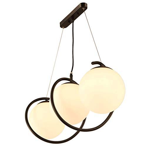 Verlichting kroonluchter - eetkamer woonkamer eenvoudige creatieve E27 LED gloeilamp LED gloeilamp binnenverlichting (kleur: driekleurig licht)