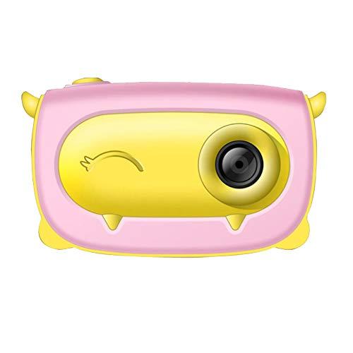 Fltaheroo Kids Digitale Camera 2 Inch 720P HD Scherm Laden Cartoon Leuke Outdoor Fotografie Props voor Speelgoed Roze