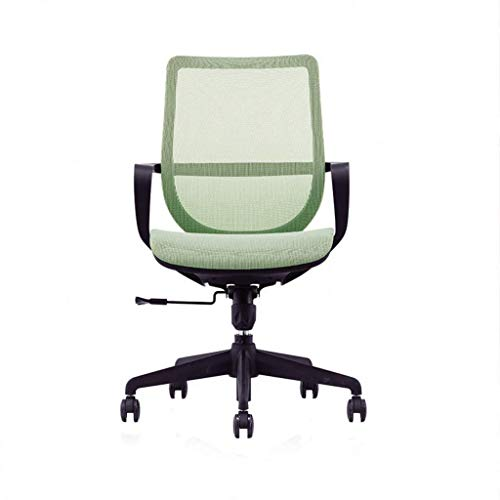 Height Adjustable Office Chair Mesh Swivel Computer Conference/Home Padded Desk Chair Comfort with Arms Back Support Gas Lift (Color : Green)