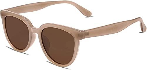 LHSDMOAT Gafas de sol para mujer, estilo vintage, con forma de gato, protección UV, gafas de sol de gran tamaño, ojos de gato, gafas de sol rectangulares, gafas de conducción retro para mujeres