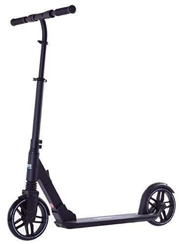 Rideoo Patinete plegable 200 Pro City plegable, de ocio, de altura ajustable, color negro