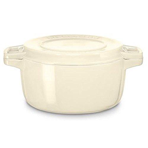 KitchenAid Gussbräter, Gusseisen, beige, 24 cm
