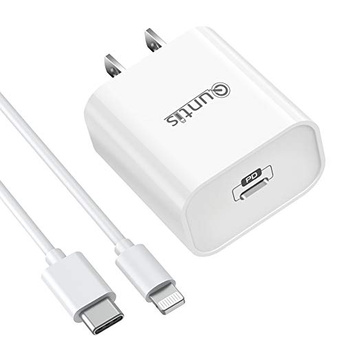iPhone 12 Fast Charger, Quntis USB C 30W Power Delivery iPad Fast Charger, USB C Charger with 6.6FT C to Lightning Cable for New iPhone 12 11 Mini Pro Max SE 2020 11 Xs XR X 8 Plus iPad Pro AirPods