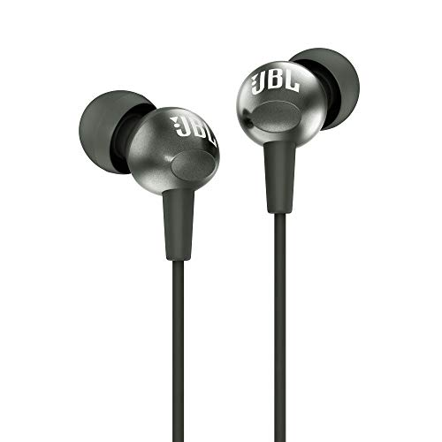 JBL C200SI in-Ear Headphones with Mic (Gun Metal)