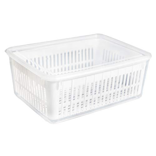 DOITOOL - Contenitore per frigorifero di alta qualità, in plastica, per frutta e verdura, con coperchio