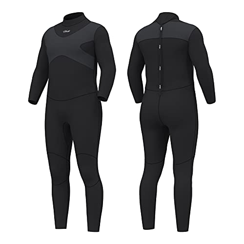 Hevto Wetsuits X Men 3mm Neoprene Full Scuba Diving Suits Surfing Swimming Long Sleeve Keep Warm (X-Men Gray, 3XL1)