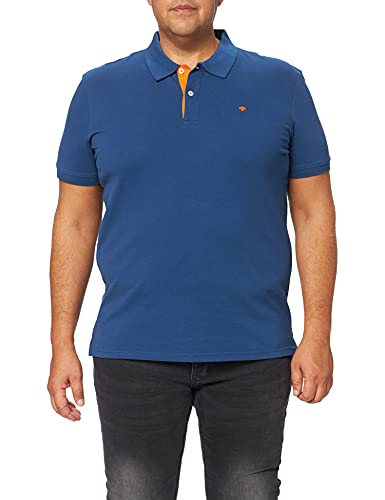 TOM TAILOR Herren Basic Polo_1016502 Poloshirt, After Dark Blue, S EU
