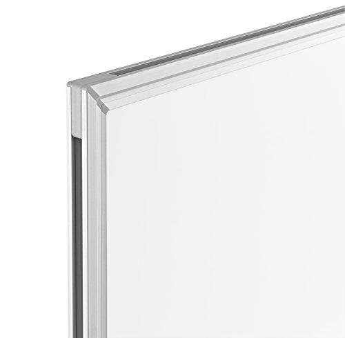 magnetoplan Whiteboard SP 120 x 90 cm, in weiteren Größen auswählbar, mit speziallackierter Oberfläche, Metallrückwand, inklusive Befestigungsmaterial - 4