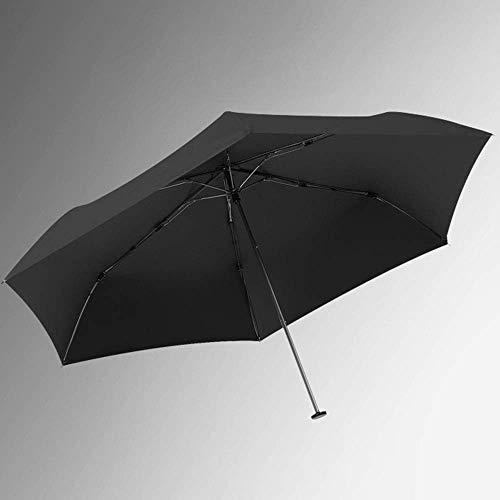 BJH Paraguas Plegable de Hierro Ultraligero, Mini Parasol, protección UV, protección Solar, Doble Uso Soleado y lluvioso
