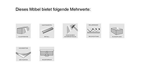 Germania Couchtisch GW-Larino mit hohen Füßen 8511-84   Aus Glas in Weiß   80 x 36,5 x 80 cm