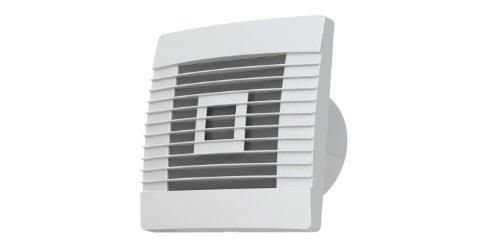 MKK Qualitätslüfter mit Bewegungsmelder und automatischen Lamellen in weiß Ø 100 mm 10 cm Küche Badezimmer WC Toilette Wohnraumlüfter Wohnzimmer Keller Flur