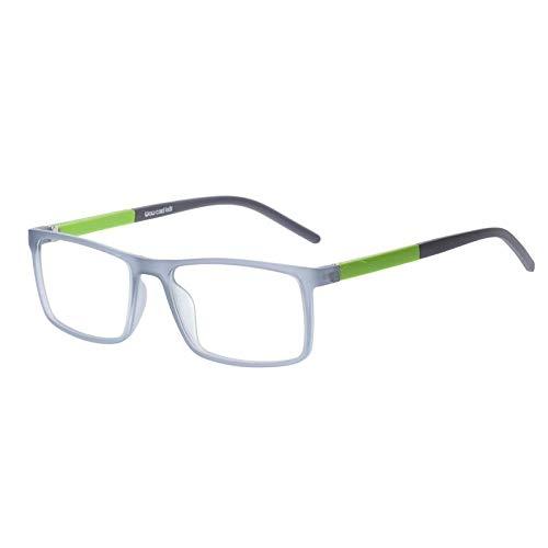 Jbwlkj Kinderbrille Tr90 Flexible Brillengestelle Kinder Optischer Rahmen Kinder Graue Kinderbrille für 6-10 Jahre Old-Mb-0205C.04