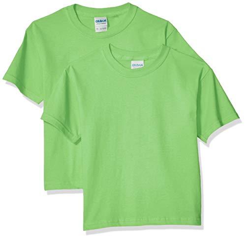 Gildan Kids' Big Ultra Cotton Youth T-Shirt, 2-Pack, Lime, Large