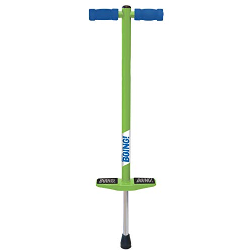 Geospace Jumparoo Boing! JR. Pogo Stick by Air Kicks, Small for Kids 50 to 90 Lbs (Green)