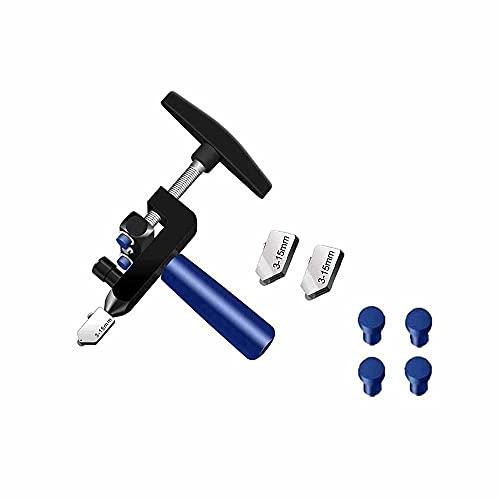 Kasituoer Cortador de Azulejos Manual 2 en 1, Herramienta de Corte de Azulejos de Vidrio de cerámica Multifuncional de Mano (Negro)