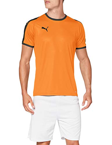 PUMA Liga Jersey T-Shirt, Hombre, Golden Poppy Black, M