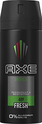 AXE Bodyspray voor een langdurige geur Africa zonder aluminiumzouten, verpakking van 3 stuks (3 x 150 ml)