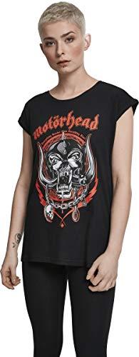 MERCHCODE Camiseta para Mujer Motörhead Razor, Mujer, Camiseta, MC287, Negro, Medium