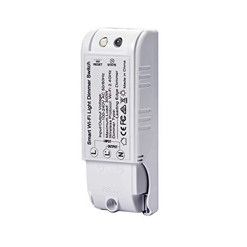 Smart Licht Dimmerschalter, 2.4Ghz Wireless WIFI Dimmer, Unterstütze für Alexa und Fern App Control, mit Timer Ein/Aus Funktion LED Lichtdimmer
