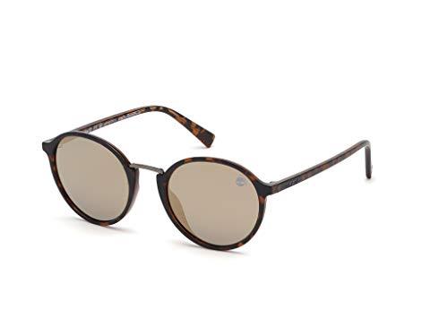 Timberland heren TB9160 zonnebril, bruin (Dark Havana/Smoke Polarized), 51