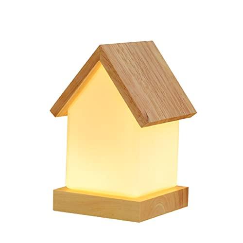 LICHUAN Lámpara de mesa de madera Lámpara de mesa de vidrio que hace la lámpara de lectura con tres fuentes de luz Lámpara de escritorio Norte de Europa para sala de estar dormitorio
