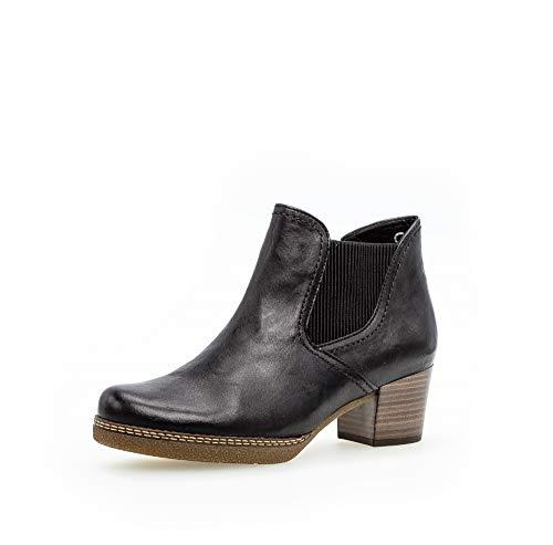 Gabor Damen Stiefeletten, Frauen Ankle Boots,Comfort-Mehrweite,Reißverschluss,Optifit- Wechselfußbett, Women's,Ocean (S.n/Micro),40.5 EU / 7 UK