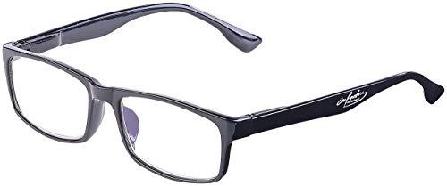 infactory Computerbrille: Augenschonende Bildschirm-Brille mit Blaulicht-Filter, 1,0 Dioptrien (Lesebrille mit Blaufilter)