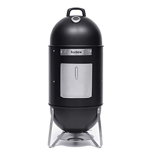 Audew Charcoal Smoker Grill Outdoor, 18'' Smokey Mountain Cooker Meat Smoker with Heat Control/ 2 Cooking Racks for BBQ Outdoor Picnic Camping