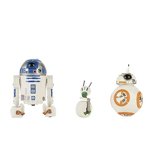 Star Wars Galaxy of Adventures R2-D2, BB-8, D-O Action-Figur, 12,5 cm großes Droiden 3er-Pack, Figuren für Kids ab 4 Jahren
