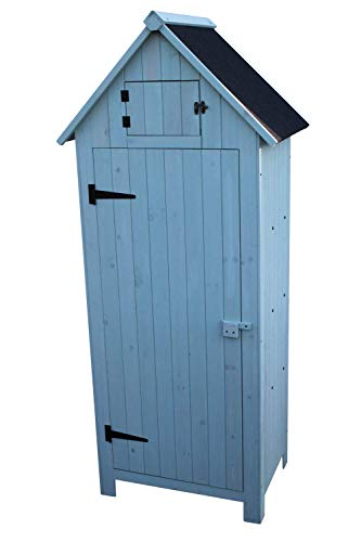Armoire de rangement en bois pour jardin Brighton ou abri de jardin vert olive