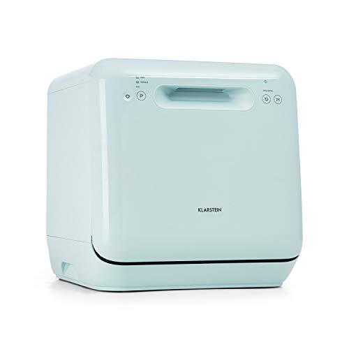 KLARSTEIN Aquatica - Mini lave-vaisselle de table, CEE A, 125 kWh/an, 2 couverts, indépendant, sans installation, lavage à 360 °, 3 programmes, commande tactile, consommation d'eau: 5 litres - vert