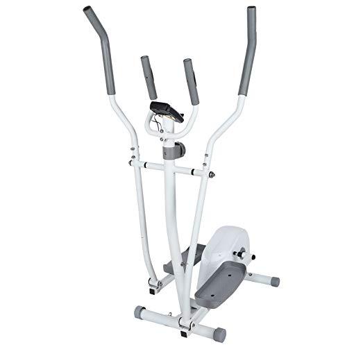 Máquina elíptica Máquina de ejercicio epíptico para uso en el hogar Entrenador elíptico para entrenamiento interior Máquina de fitness deportiva magnética Equipo de fitness para uso doméstico (blanco)