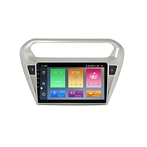 Android 10.0 Car Stereo 2 DIN In-Dash Radio para Peugeot 301 Citroen Elysee 2014-2016 Navegación GPS 9 '' Unidad Principal Reproductor Multimedia MP5 Receptor de Video con 4G / 5G WiFi Carplay