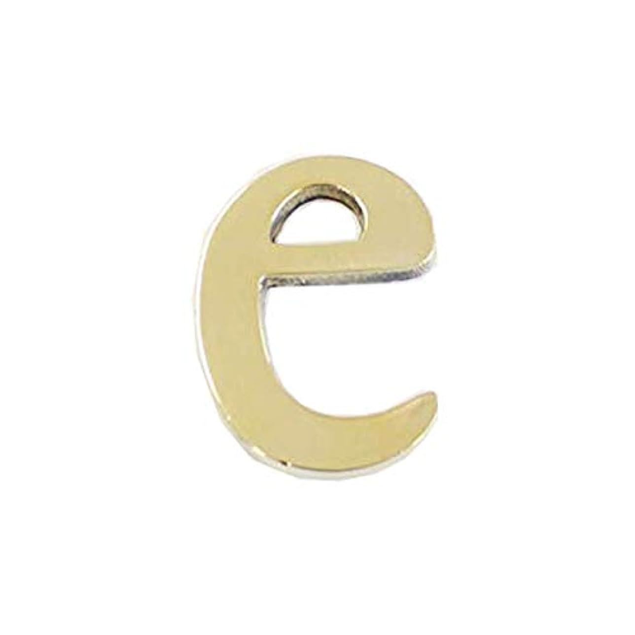二週間地元構成員真鍮レターゴールド 45mm 小文字e