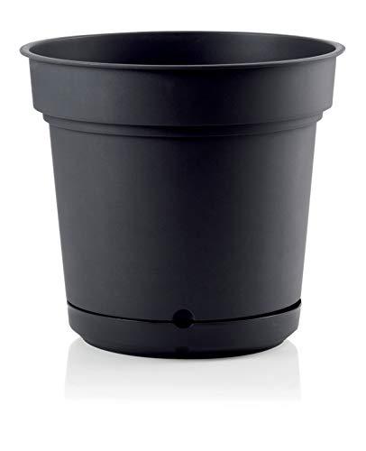 樹脂製 大型植木鉢 ハイドポット ブラック 58cm 貯水機能受皿付