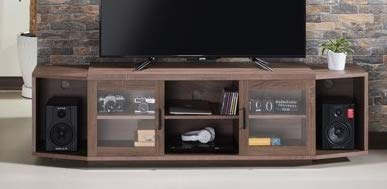 70 Inch Tv Stand - Chestnut Brown Wood with Multiple Storage - Display Your TV in Style