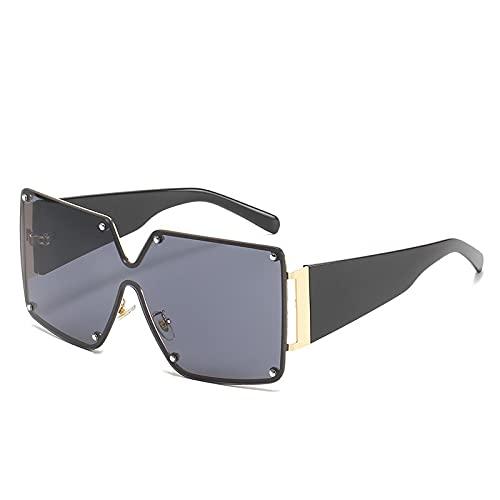 Gafas De Sol Cuadradas con Montura Grande, Gafas De Sol De Gran Tamaño para Hombres Y Mujeres 1