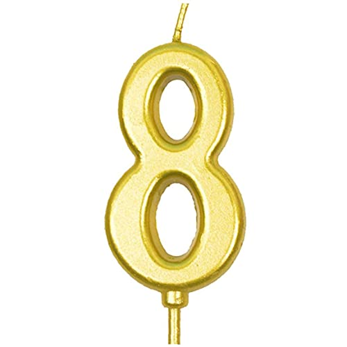 Birthday Candle Cake Number Candles Numeral Cake Top Decration for Birthday Celebration Number 0-9