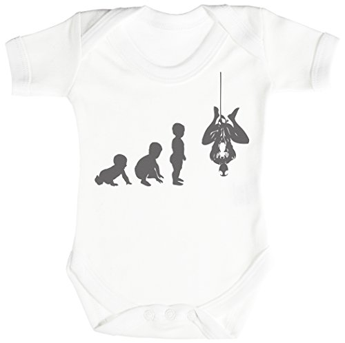 Baby Evolution to A Spider Man Body bébé - Gilet bébé - Body bébé Ensemble-Cadeau - Naissance Blanc