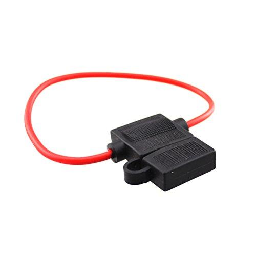 WINOMO Porte-fusibles, imperméable à l'eau de douille de boîte de fusibles voiture automatique fusible titulaire avec ligne de 20cm (noir)